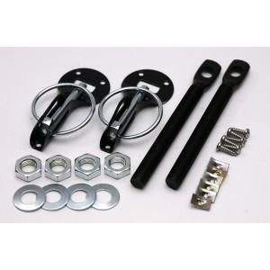 Zapinki kołkowe aluminiowe czarne