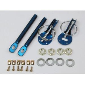 Zapinki kołkowe aluminiowe niebieskie